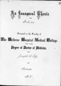 The title page of Dr. Fife's thesis.
