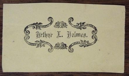 Holmes bookplate mini